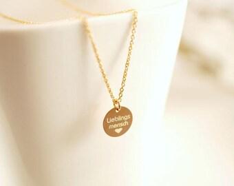 Necklace ~ Favorite Man ~ 925 silver ~ Rose gold