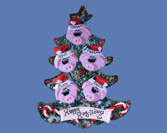Pig ornament Personalized (5) Family tree