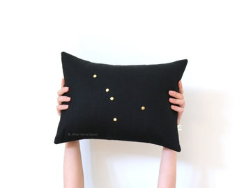 Cancer Studded Zodiac Pillow Covers, Personalized Pillows, Astrological Sign (12x16) by JillianReneDecor, July Birthday Day Gift, Cushions
