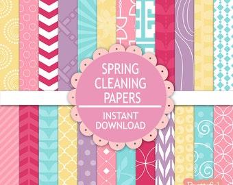 Girl Baby Shower Digital Scrapbook Pastel Printable Paper Pack Instant Download