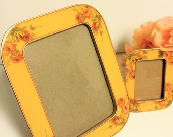 Set of Two Buckner's Floral Enamel Frames