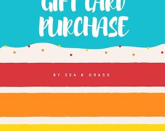 Sea & Grass Gift Card
