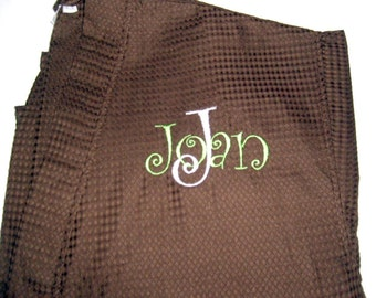 Spa Robe with Overlay Personalization