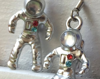 fancy asrtonaut earrings