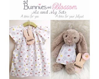 Me and My Set - Leah Dress/Sienna Top - Bunny and Me - Summertime Print