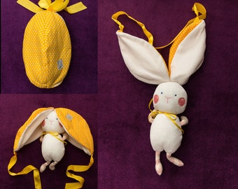 Bunny in yellow egg – Easter soft toy