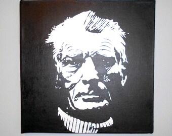 Samuel Beckett  Acrylic Painting Pop Art 30cm x 30cm Modern Art