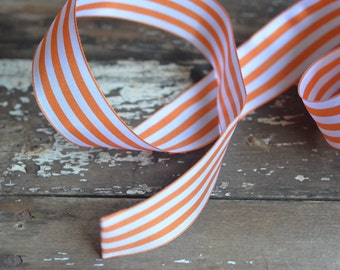 orange and white striped ribbon