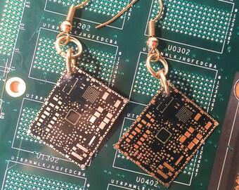 Microsoft Circuit Board Earrings