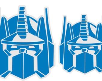 TWO Transformers Permanent Self-Adhesive Die-Cut Vinyl Decals