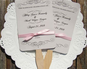 Wedding Fans - Wedding Hand Fans - Personalized Fans - Assembled Wedding Fans - Formal Wedding Fans - Summer Wedding - Wedding  Favor Fan