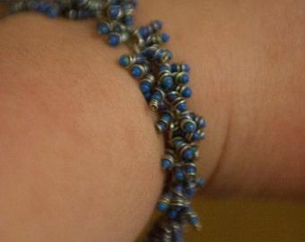Blue Resistor Cluster Bracelet