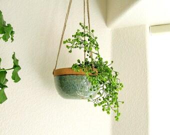 Hanging Planter - Succulent Planter - Ceramic Planter - Cactus Pot - Wheel Thrown Stoneware Pottery