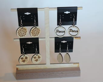 Choice of Assorted Wooden Hanging Earrings
