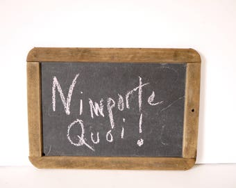 French Vintage childrens school chalkboard