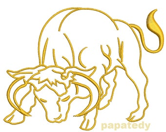 Taurus Zodiac Sign - Machine embroidery design - three sizes - 4*4inc/3*3inc/2*2 inc - tested
