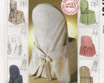 A Pattern to Create Fabric Covers for Windsor Chairs, Ladder-Back Chairs, and Folding Chairs: Uncut - McCall's 2787