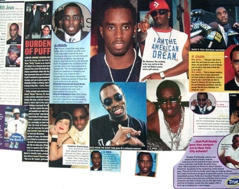 SEAN COMBS ~ Can't Nobody Hold Me Down, I'll Be Missing You, All About the Benjamins, P Diddy, Puff Daddy ~ Color Clippings for Scrapbooking