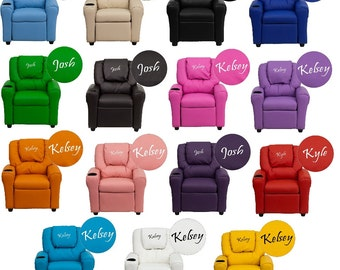 Kids Personalized Recliner Arm Chairs- Embroidered Chairs