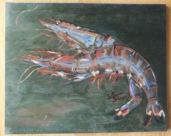 Shrimp art print, Louisiana art, New Orleans art, Cajun art, Kitchen decor, Seafood art, Cajun kitchen, Beach decor, Man cave decor, NOLA
