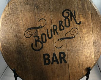 Bourbon Barrel Head/Monogram/personalization-/Kentucky bourbon/bourbon bar