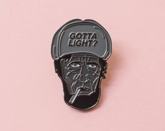 Gotta Light? Twin Peaks woodsman enamel pin