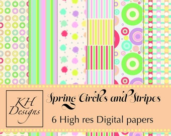 Spring Circles and Stripes