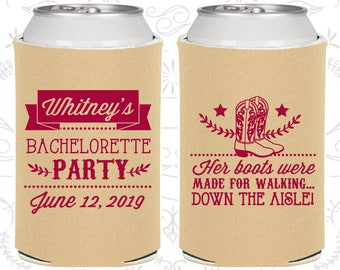 Her Boots were made for walking down the isle, Personalized Bachelorette Gift, Western Bachelorette Party Favors, Bachelorette Favor (60072)