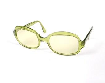 Vintage Frederic Beausoleil Eyeglasses - Sunglasses Green Tint - Made In France Paris - Green Eyewear