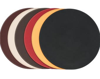 Quick View. More Colors. Round Placemats / Recycled Leather Table ...