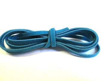 3 x 1 m wool blue color suede cord