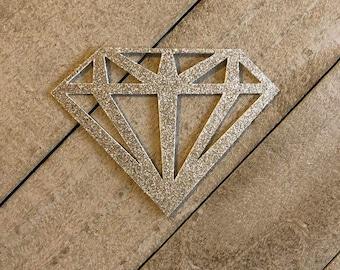 Glitter diamond cake topper