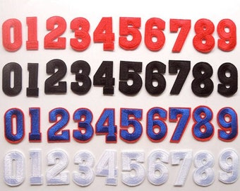Colorful Embroidered iron on Numbers Applique Patch,Iron On Numerals Patch  for T-Shirt