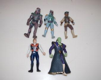Choose One: Star Wars 1996 Action Figure Chewbacca, Boba Fett, Princess Leia, Han Solo, Prince Xizor