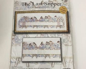 The Last Supper Stamped Embroidery Kit Design Works Crafts