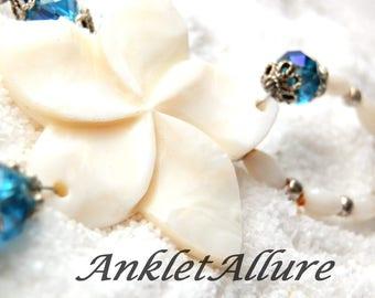 Ankle Bracelet BEACH Anklet Shell BEADED Anklets for Women Beach Proof