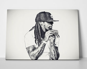 Lil Wayne Mic Poster or Canvas