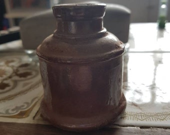 Gorgeous vintage stone ink bottle