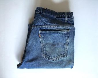 "Vintage Men's 70's Levi's, Orange Tab, Jeans, Dark Wash, Denim (W36"" x L33"")"
