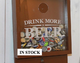 SALE/Drink more BEER/Bottle Cap Holder/Bottle Opener/Beer Decor/Bar Decor/Christmas Gift/Male Gift/Engraved/Fast Shipping