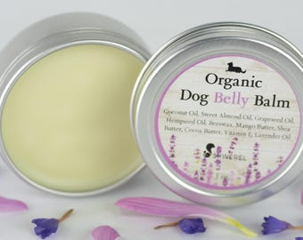 Natural and Organic Dog Belly Moisturizing Balm For Dry Elbow Belly and Other Skin - 1 oz Tin