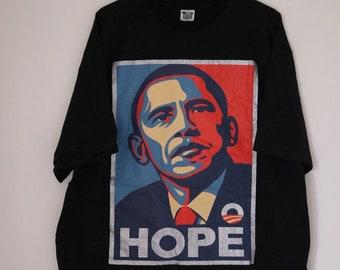"""2008 Barack Obama """"HOPE"""" T-shirt"""