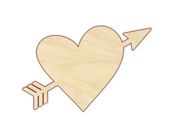 Heart with Arrow - Unfinished Wood - 160435