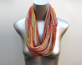 Orange Scarf, Orange Infinity Scarf, Infinity Scarf, Gift for Her, Gift for Women, Statement Necklace, Scarf Women, Scarves for Women, Women