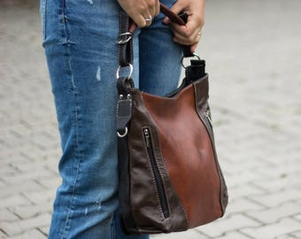 LEATHER HOBO Bag, SHOULDER Bag, Leather Purse, Brown Women's Handbag, Leather Handbag, Everyday Crossbody, Leather Bag, Leather Laptop Bag