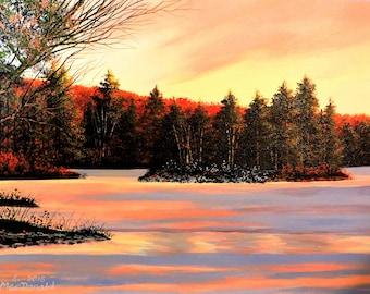 Original Acrylic Painting 12x16 canvas panel