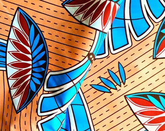 2.5 Yard Bundle | Peach Tropical African Print Fabric| 100% Cotton