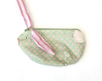 Girl's Bunny Clutch Bag,Handmade Girl's Gift,  Rabbit Purse