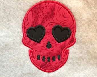 Love Skull Applique DOWNLOAD DIGITAL Design 4x4 5x7 8x12