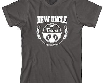 New Uncle of Twins Since 2018 Shirt - family, twins, christmas gift idea - ID: 2095